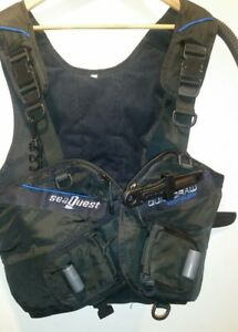 New-Scuba-Diving-Vest-SeaQuest-Quick-Draw-Weight-Holster-w-Knife-Size-M-L
