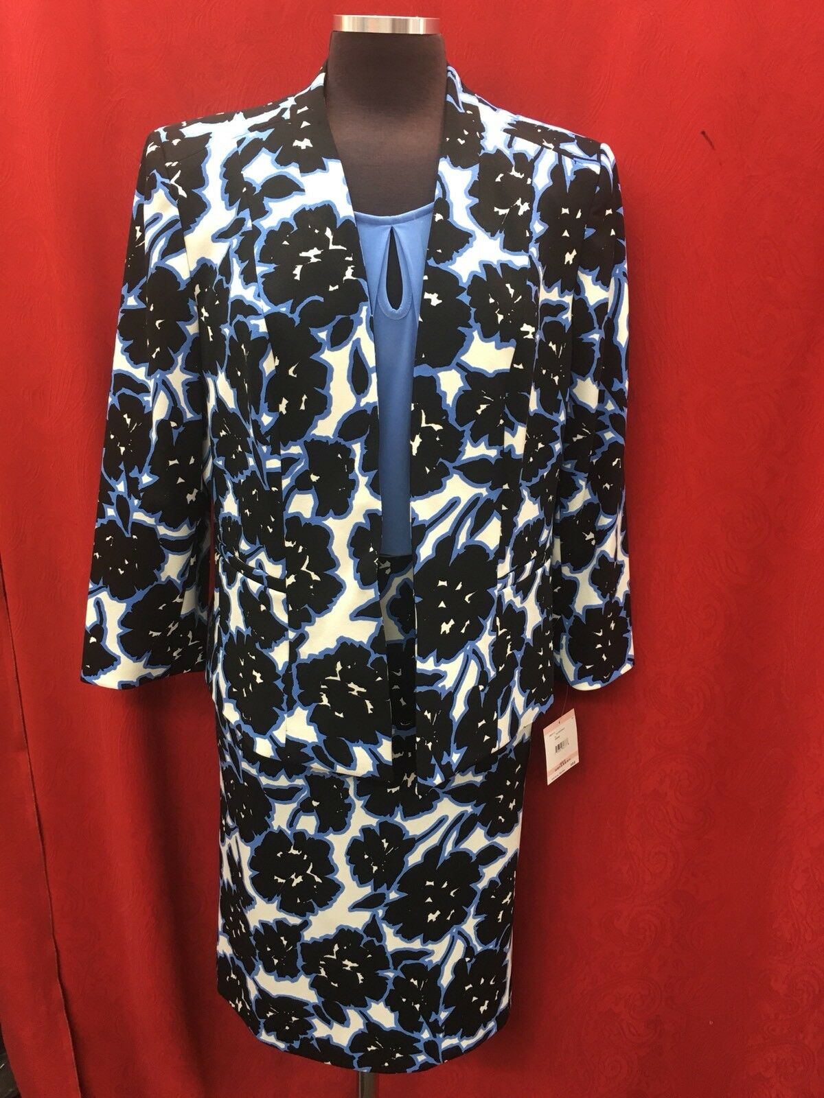 KASPER SKIRT SUIT TANK TOP INCLUDED SIZE 10 NEW WITH TAG LINED RETAIL 280