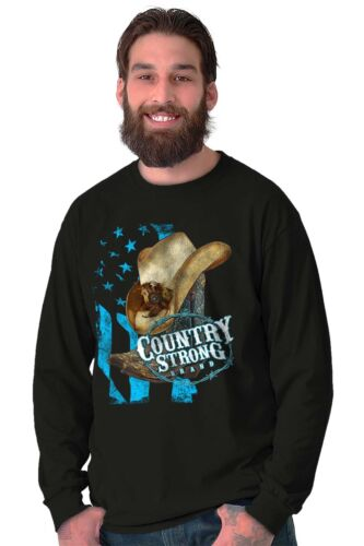 Pays fort cowboy western Southern Cowgirl Rodeo Cadeau à manches longues T-Shirt