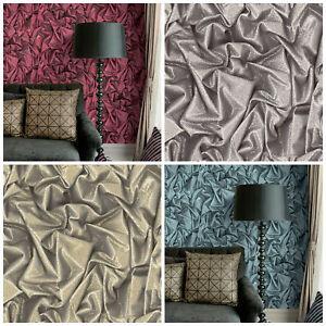 Crushed-Sequin-Wallpaper-Silk-Velvet-Effect-Luxury-Blue-Red-Gold-Silver-Satin