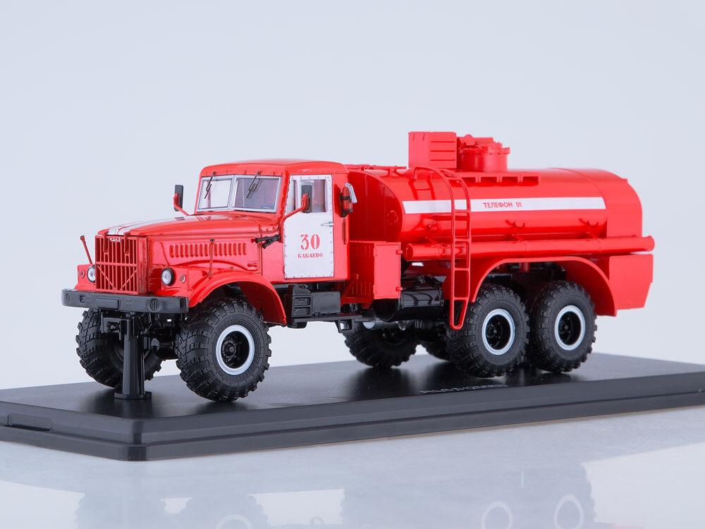 Modelo de escala camión 1 43 el fuego Tanque AC-8, 5 (KrAZ - 255B)