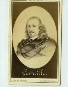 Vintage-CDV-Pierre-Corneille-French-tragedian-Dramatist-by-Charles-Jacotin