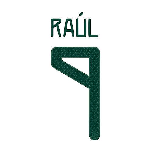 Mexico 2020//21 Away Raul #9 Jersey Name Set