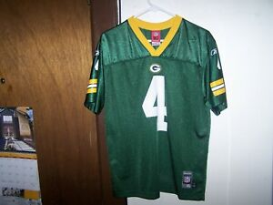 a5c81622 REEBOK Green Bay Packers #4 Brett Favre NFL Football Jersey Youth XL ...