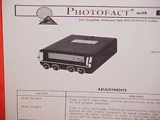 1971 1972 1973 TOYOTA CELICA GT 8-TRACK TAPE PLAYER SERVICE MANUAL GIBBS GT-80