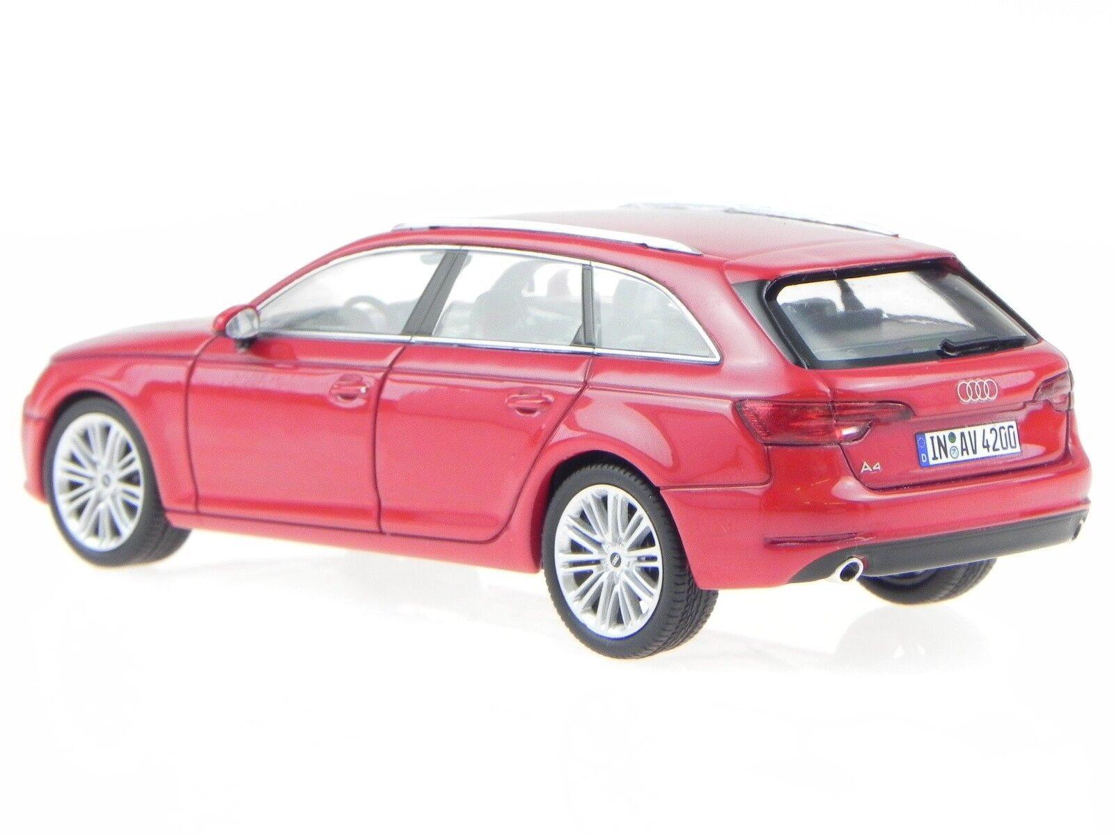 Audi A4 B9 Avant 2015 tango rot Modellauto Spark Spark Spark 1 43  | Roman  deba8c