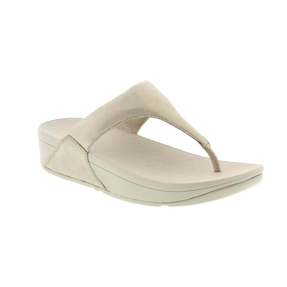 Fitflop Shimmy Suede Pale Gold Flip Flop Sandal Women's sizes 5-11 NEW!!!