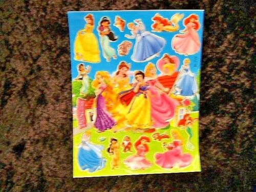 Disney Princesses 5 x A4 Sheets of Shiny Foil Stickers Party Bags Stocking 461