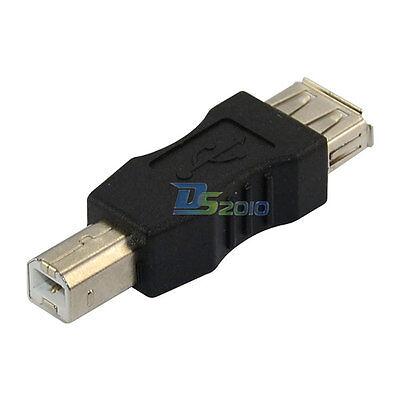 USB 2.0 A Female jack to USB 2.0 B Male plug Connector adapter convertor F / M