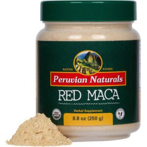 Organic-Red-Maca-Powder-8-8oz-250g-Peruvian-Naturals-certified-organic