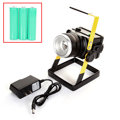 Rechargeable Outdoor Dimmer Work light CREE XM-L L2 LED Flood Spot Camping Lamp