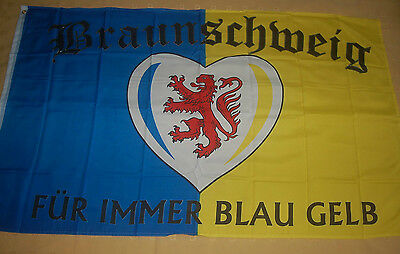 Original Braunschweig Für Immer Blau Gelb Flagge Fahne Hißflagge Hissfahne 150 X 90 Cm Einen Einzigartigen Nationalen Stil Haben