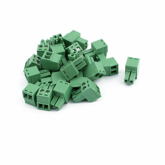 20Pcs 300V KF2EDGK 3.5mm Pitch 2-Pin PCB Screw Terminal Block Connector