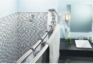 Curved Shower Curtain Rod Adjule