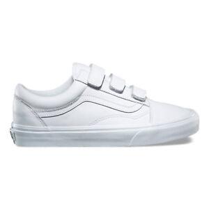 990862d5109ca0 Vans Old Skool V Mono Leather White Men s 12 Skate Shoes New ...