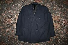 VINTAGE Polo Ralph Lauren Blue Label Gray Flannel Double Breasted Wool Suit 40 S