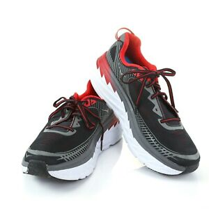 Hoka-One-One-Bondi-5-Mens-Running-Athletic-Training-Shoes-Black-Red-Size-Mens-9