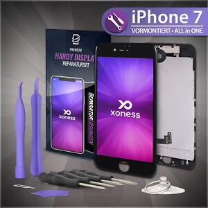 Ersatz-LCD-iPhone-7-Display-Schwarz-KOMPLETT-VORMONTIERT-Retina-Bildschirm-Black