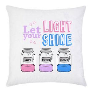 Federe Colorate Per Cuscini.Federa Per Cuscino Con Stampa Let Your Light Shine Candele