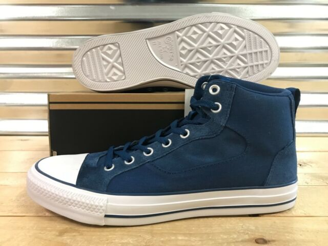 aa7a71c8e74148 Converse Chuck Taylor Asylum Mid Shoes Midnight Blue White SZ ( 147110C )