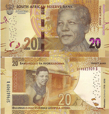 SOUTH AFRICA 20 Rand Banknote World Paper Money Currency Pick pNew commemorative