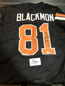 Details about Justin Blackmon Autographed Oklahomo State Jersey. Famous Ink Authenticated