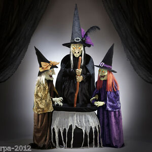 Halloween wicked stitchwick sisters 3 witches animated 6ft for 3 witches halloween decoration