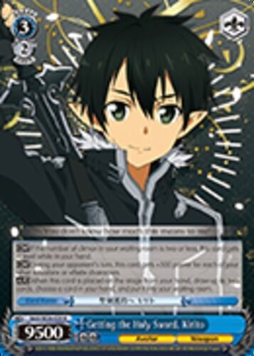 Getting the Holy Sword SAO//SE26-E29 R Kirito Foil 1x Near Mint Weiss Schw