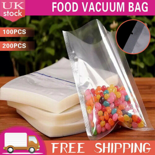 Vacuum Seal Sealer Pouch Pouches Pack Food Bags Clear Butchers Meat Bag 12 Size