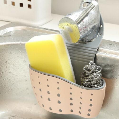 Useful Suction Cup Sink Shelf Soap Sponge Rack Kitchen Sucker Storage Basket TP
