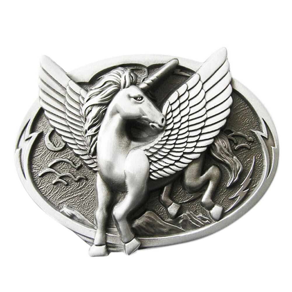 Unicorn Pegasus I Gürtelschnalle Unicorns Winged Horse Fairies Einhorn Einhörner
