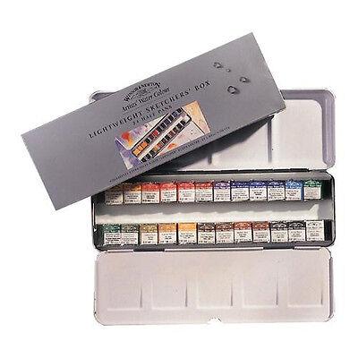 Winsor & Newton Pro Artists Watercolour 24 Half Pan Metal Box Set (0190553)
