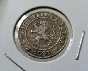 BELGIUM-1894-10-Centimes-Leg-034-LEOPOLD-II-ROI-DES-BELGES-034-L-039-UNION-FAIT-LA-FORCE