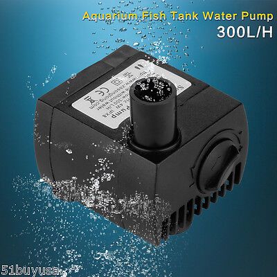 300 LPH GPH Submersible Water Pump Silent Aquarium Fish Tank Pond Foundation UK