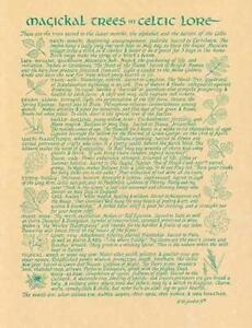 Magical Celtic Trees Parchment-Like Page for Book of Shadows Page, Altar!