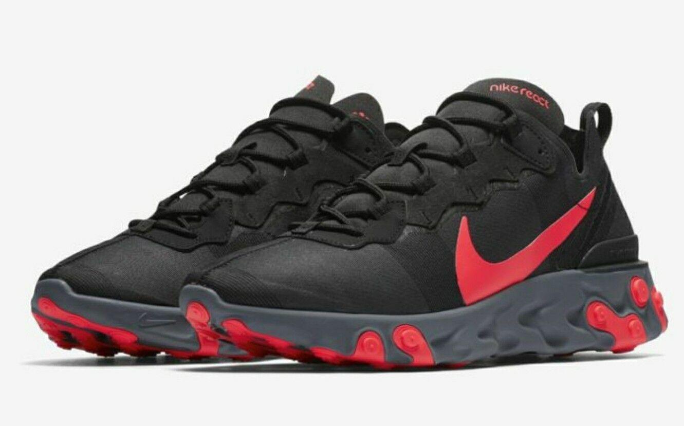 Nike React Element 55 Black Solar Red Cool Grey BQ6166-002