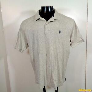 U-S-POLO-ASSN-S-S-Classic-Golf-Polo-Shirt-Mens-Size-L-Gray-cotton