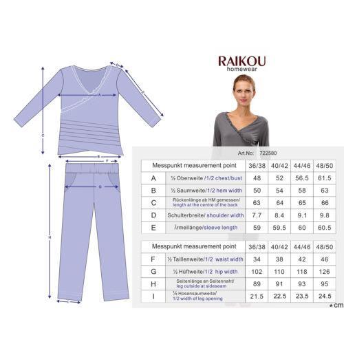 Damen Pyjama Set Fitness Yoga Schlafanzug Single Jersey Hausanzug mit Rüschen