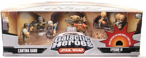 Star Wars GALACTIC HEROES Cantina Band NEW 7 Action Figure Playset Plays Music