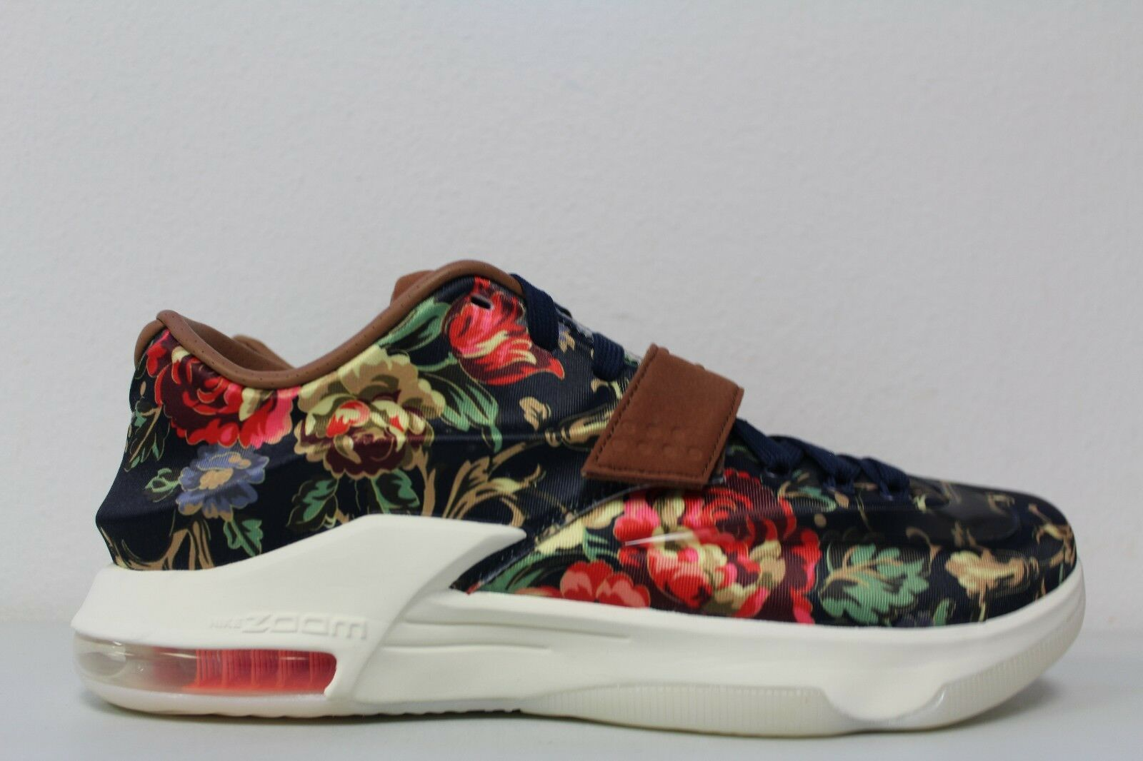 Nike Mens KD 7 VII EXT Floral QS Size 10 Midnight Navy Black Hazelnut 726438 400