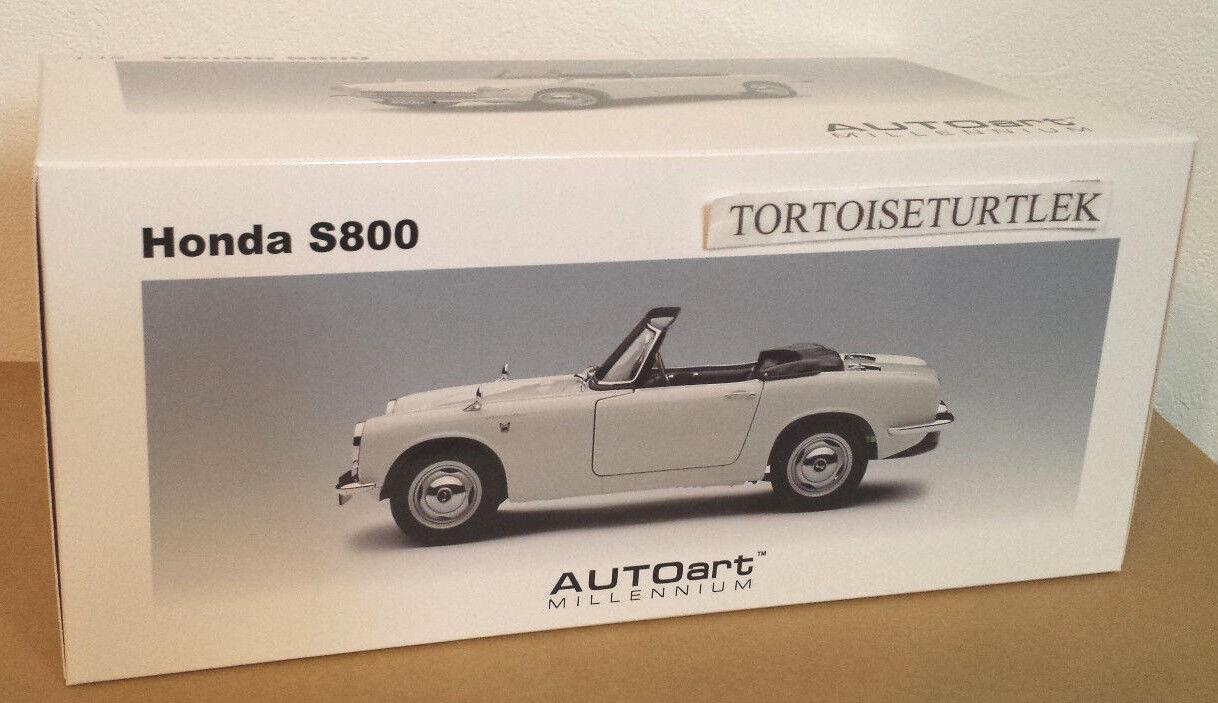 bilkonst Honda S800 vit 067410732788 modellllerlerl Bil 1 18