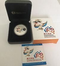 2010 $1 Shanghai World Expo Australian Pavilion Mascot 1oz Silver Coin