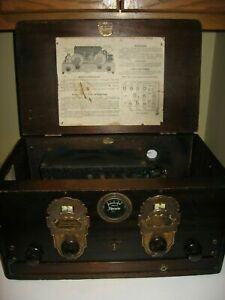 Steinite-Duco-AC-Tube-Radio-Pre-1930-039-s-Tested-and-Functioning