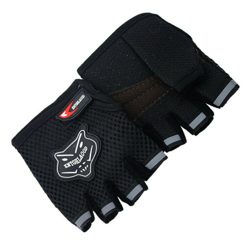 Sports Mitts Biking Bicycle Cycling Gel Pad Half Finger Gloves Fingerless Gloves