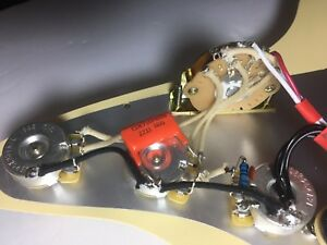 pro upgrade prewired kit with treble mod wiring harness fits fender strat cts ebay. Black Bedroom Furniture Sets. Home Design Ideas