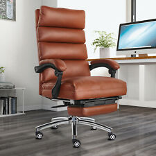 360 Boss Office Chair High Back Recline Pu Leather Blackbrown Office Executive