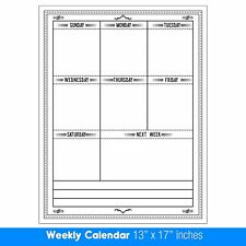 wet or dry erase weekly planner magnet calendar laminated menu