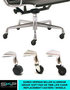 Image Is Loading CASTERS FOR EAMES HERMAN MILLER ALUMINUM GROUP SOFT