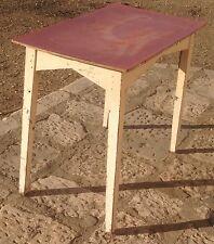 vecchio tavolo in legno anni 50 da cucina piano in formica modernariato vintage