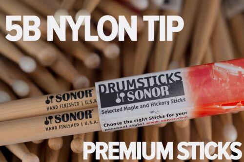 Sonor 5B Nylon Tip Drum Sticks by Vic Firth Brick of 12 Pairs